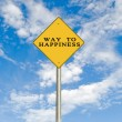 Stock Photo: Road signs to happiness