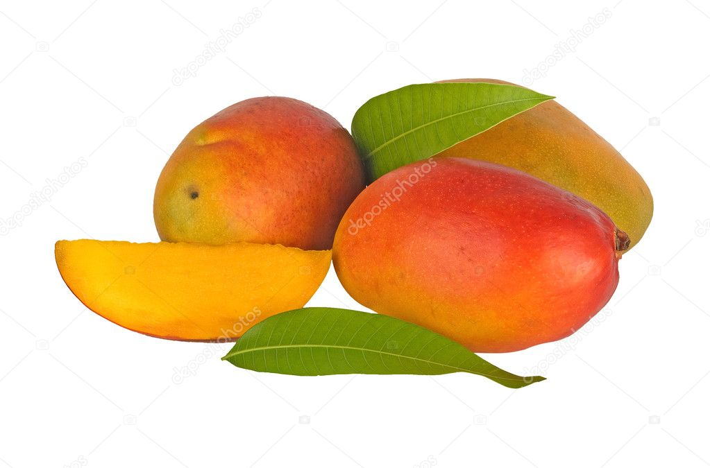 Mangoes isolated on white background — Stock Photo #4657361