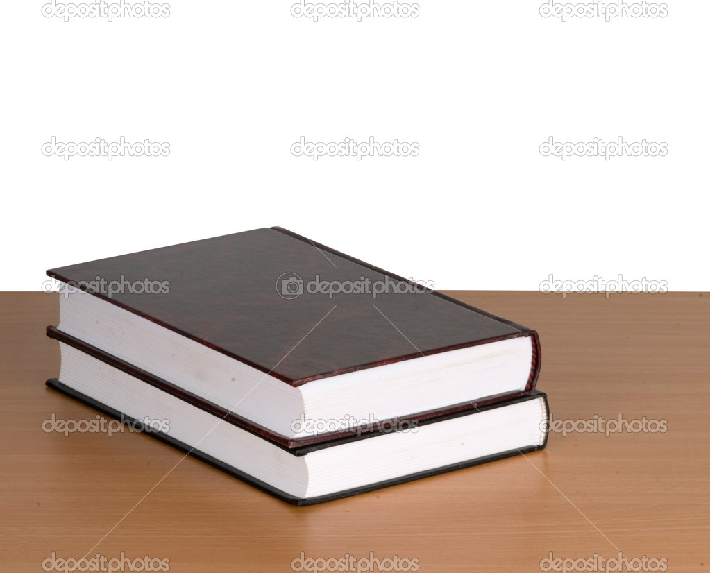 Two books on desk — Stock Photo #4657933