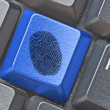Stock Photo: Key for fingerprint detection