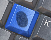 Key for fingerprint detection — Stock Photo