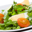 Rocket salad with vegetables and egg - Foto de Stock  