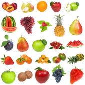 设置与水果和浆果 — 图库照片