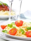 Pasta met groenten — Stockfoto