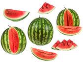 Set with watermelon — Stock Photo