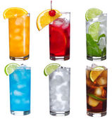 Set with different cocktails — Stock Photo