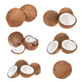 Set with coconuts — Stock Photo