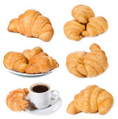 Set with croissants — Stock Photo