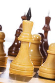 White chess piece on white background — Stock Photo