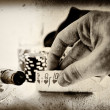 Stock Photo: Vintage poker hand