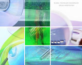 Technology collage — Stock Photo