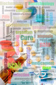 Biochemistry collage — Stock Photo