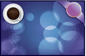 Coffee abstract background (vector) — 图库矢量图片