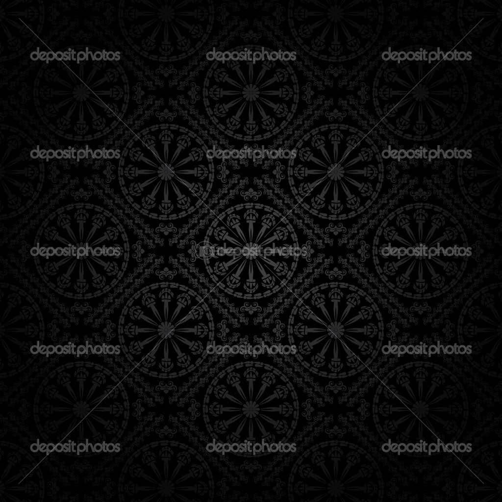 Seamless vector wallpaper in ghotic style — Stock Vector #4046251