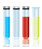 Vector test tubes — Stockvector