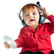 Little dj — Stock Photo