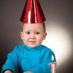 Little boy first birthday — Stock Photo
