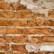 Aged grunge bricks wall background — Stock Photo