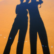 Stock Photo: Familly silhouette