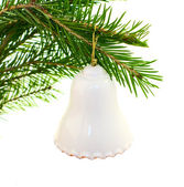 Bell on fir branch — Stock Photo