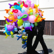 Stock Photo: Colorful cheerful balloons