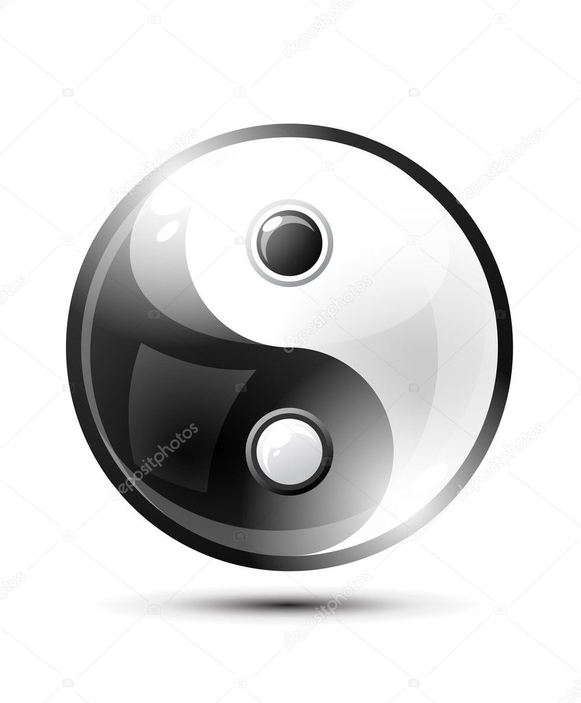 Ying yang symbol of harmony and balance — Stock Vector #4775414