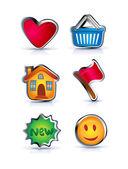 Barevné web ikony — Stock vektor