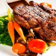 Grilled ribeye steak - Stock Photo