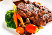 Grilled ribeye steak — Foto Stock