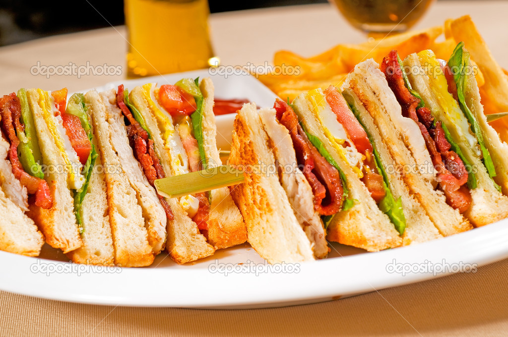Triple decker club sandwich — Stock Photo © keko64 #4738007