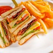 Stock Photo: Triple decker club sandwich