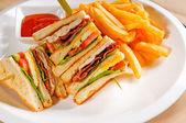 Triple decker club sandwich — Stock Photo