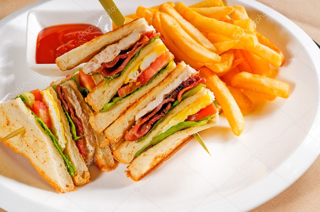 Triple-Pork Club Sandwich Recipes — Dishmaps