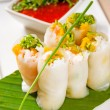 Vietnamese style summer rolls - Stock Photo