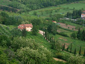 Villa in Tuscany amongst olive groves — Stock Photo