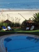 Beach of Praia de Rocha in Portimao, Algarve, Portugal — Stock Photo