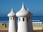 Fairy Chimneys on the terrace overlooking the sea — Stock Photo