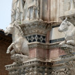 Architectural details of Duomo facade - Siena - Photo
