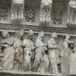 Siena - Duomo. Relief from the western facade — Stock Photo