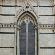 Siena - Duomo. Side wall of the cathedral - Foto de Stock