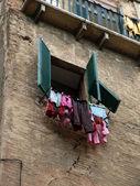 Siena - Washing hanging up to dry — Stock Photo