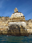 Picturesque Algarve coast between Lagos and the Cap Vincent — Stock Photo