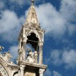 Venice - the upper facade of the Cathedral of the St Mark — Foto Stock