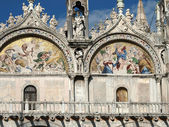 Venice - The basilica St Mark's. Mosaic from upper facade — Stockfoto