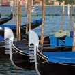 Characteristically decorated the front a Venetian gondola — Stock Photo