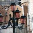 Stock Photo: Venice - lanterns at St. Mark's Square