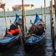 Stock Photo: Venice - Parking gondolas nearby Doge's Palace