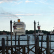 Stock Photo: Passenger ferry saying goodbye to Venice