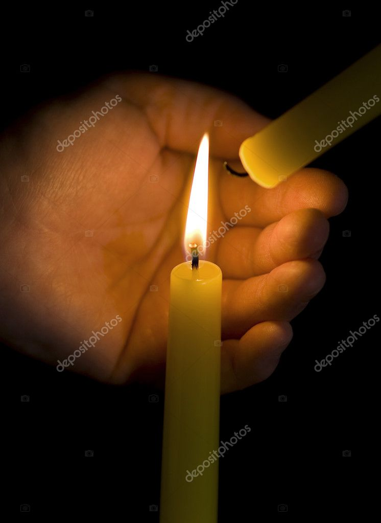 Keep candle fire — Stock Photo #4575930
