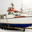 Boat in winter time — Stock Photo #4869831